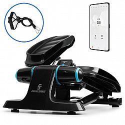 Capital Sports Galaxy Step, mini stepper, prémiové stoupací plochy, LCD displej, aplikace, modrý