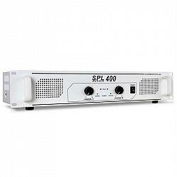 Skytec SPL-400 bílý, 1200W, HiFi PA zesilovač